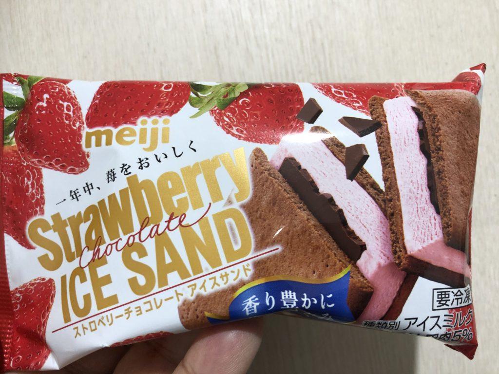 明治 ストロベリーチョコレートアイスサンド