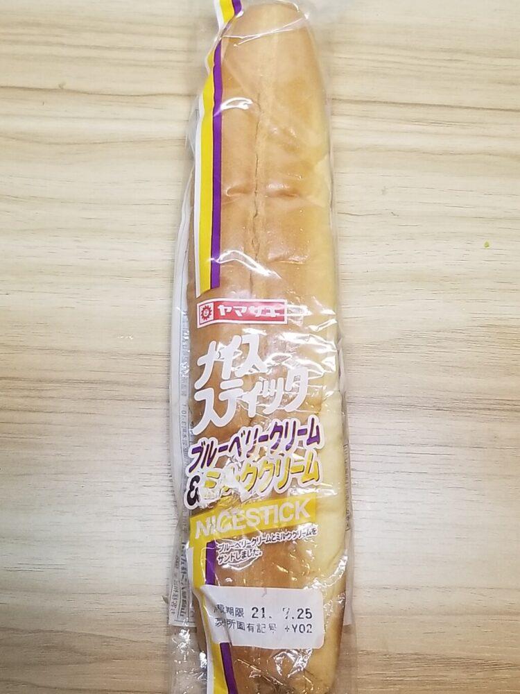 ヤマザキ ナイススティック ブルーベリークリーム&ミルククリーム